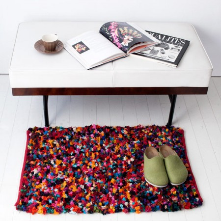 Fabric mie(ファブリックミー) COLORFUL POPCORN RUG MULTICOLOR