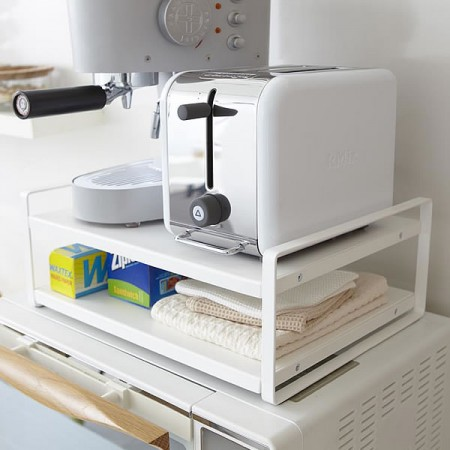 tower レンジ上ラック MICROWAVE OVEN TOP RACK