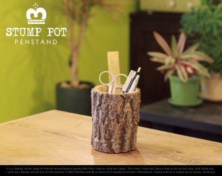 STUMP POT PENSTAND / magnet