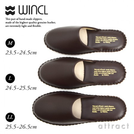 WINCL/ウィンクル  Leather Slippers レザースリッパ