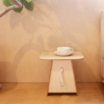 Trapezoid mini table with tissue case