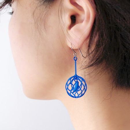 MERRY BIRD 3D PRINTING EARRINGS