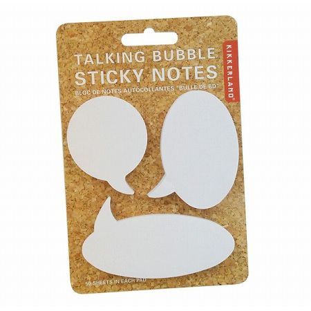 TALKING BUBBLE STICKY NOTES スティッキーノート Kikkerland