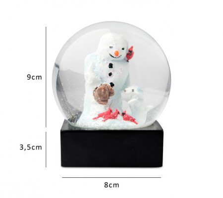 "球の中の雪だるま。Cool Snow Globe ""Snow dog"" /  BIG TRIKE"