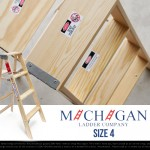"Wood Step Ladder ""Size 4″ / Michigan Ladder"