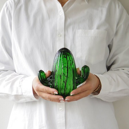 サボテンオブジェ。amabro Cactus Glass Ornament
