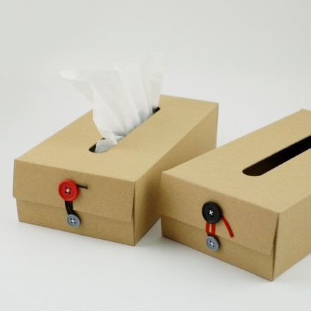 concrete craft/コンクリートクラフト Button Tissue Box