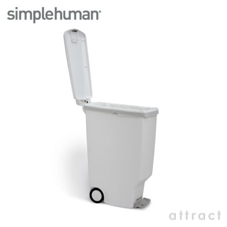 シンプルヒューマン/simplehuman  slim plastic step can