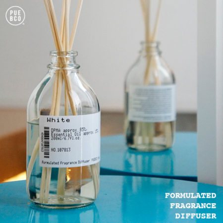 ラベル勝負。FORMULATED FRAGRANCE DIFFUSER /   PUEBCO