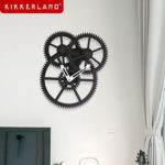 ギアだらけ時計。KIKKERLAND TRIPLE GEAR WALL CLOCK
