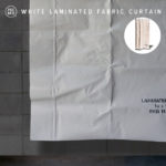 PUEBCO プエブコ WHITE LAMINATED FABRIC CURTAIN
