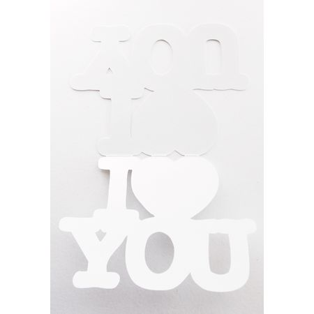 I LOVE YOU Message Card