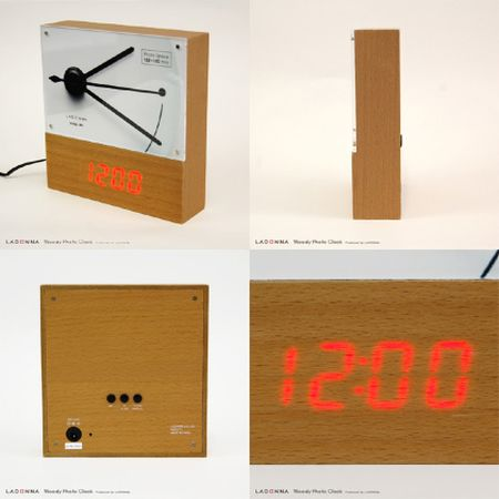 Woody Photo Clock