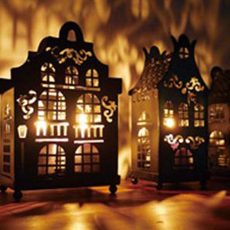 APARTMENT HOUSE SHADOW CANDLE HOLDER